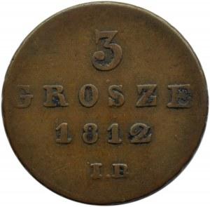 Księstwo Warszawskie, 3 grosze 1812 I. B., Warszawa
