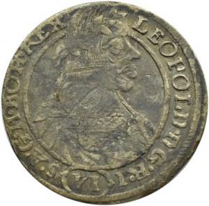 Śląsk, Leopold I, 6 krajcarów 1665 SH, Wrocław
