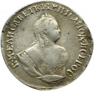 Rosja, Elżbieta, griwiennik (10 kopiejek) 1744, Moskwa
