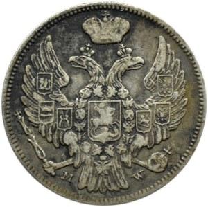 Mikołaj I, 15 kopiejek/1 złoty 1837 MW, Warszawa