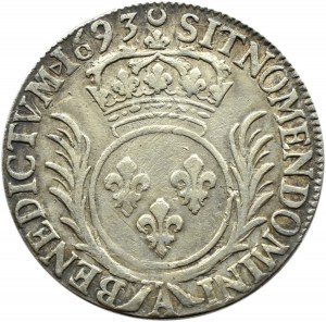 Francja, Ludwik XIV, 1/2 ecu 1693, Paryż