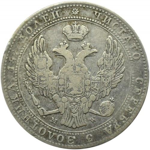 Mikołaj I, 3/4 rubla/5 złotych 1838 MW, Warszawa
