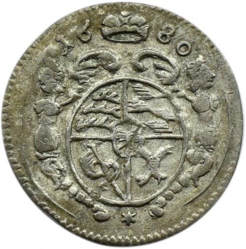Śląsk, Oleśnica, Krystian Ulryk, halerz (grosik) 1680, Oleśnica