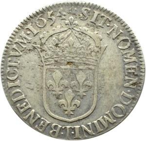 Francja, Ludwik XIV, 1/2 ecu 1654, Nantes