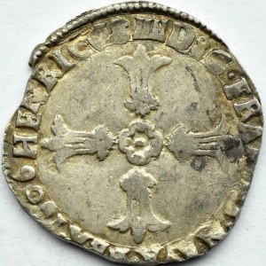 Francja, Henryk IV, 1/4 ecu 1606, Bordeaux