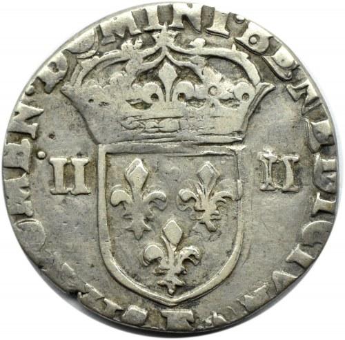 Francja, Ludwik XIII, 1/4 ecu 1615, Paryż