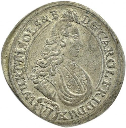 Śląsk, Ks. Oleśnickie, Karol Fryderyk, 6 krajcarów 1712, Oleśnica