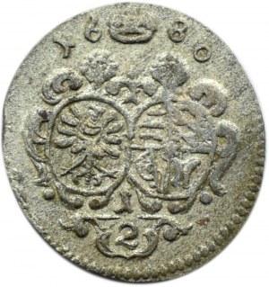 Śląsk, Oleśnica, Krystian Ulryk, 1/2 krajcara 1680, Oleśnica