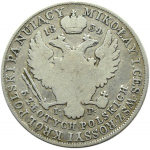 Mikołaj I, 5 złotych 1834 I.P., Warszawa