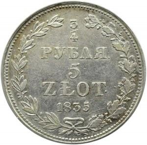 Mikołaj I, 3/4 rubla/5 złotych 1835 MW, Warszawa