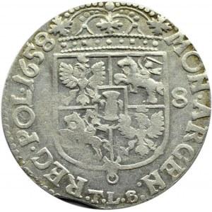 Jan II Kazimierz, ort 1658, Kraków, bez obwódek, ładny egzemplarz (R2)