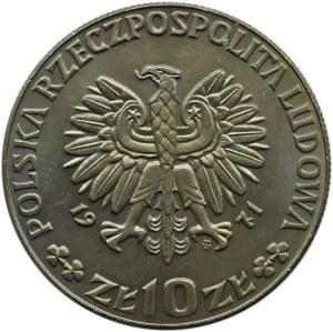 Polska, PRL, 10 złotych 1971, FAO, próba, Warszawa