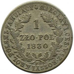 Mikołaj I, 1 złoty 1830 FH, Warszawa, ładne