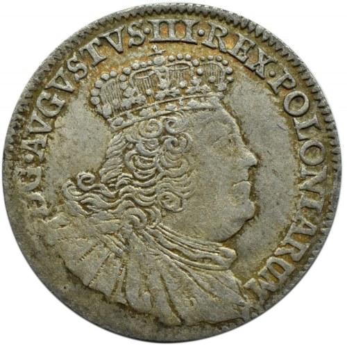 August III Sas, szóstak 1756 EC, Lipsk, szerokie popiersie
