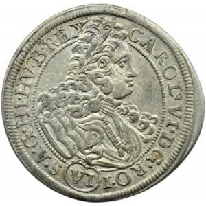 Śląsk, Karol VI, 6 krajcarów 1715, Wrocław, piękne!