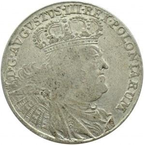 August III Sas, ort (18 groszy) 1755 E.C., efraimek
