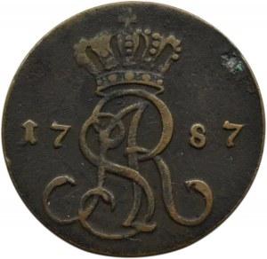 Stanisław A. Poniatowski, grosz 1787 EB, Warszawa