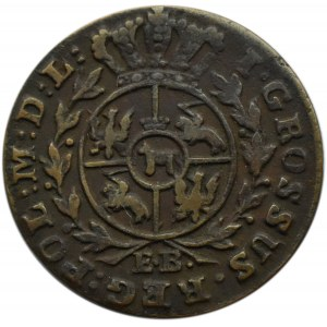 Stanisław A. Poniatowski, grosz 1787 E.B., Warszawa