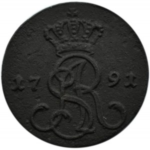 Stanisław A. Poniatowski, grosz 1791 E.B., Warszawa