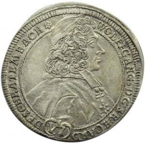 Austria, Wolfgang von Schrattenbach, 6 krajcarów 1713, Ołomuniec, rzadkie i piękne!