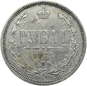 Rosja, Aleksander II, 1 rubel 1872 HI, Petersburg, rzadki rocznik
