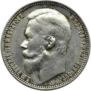 Rosja, Mikołaj II, 1 rubel 1900 FZ, Petersburg, ładny