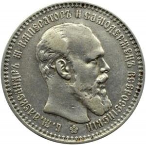 Rosja, Aleksander III, rubel 1894 AG, Petersburg