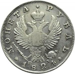Rosja, Aleksander I, 1 rubel 1824 PD, Petersburg
