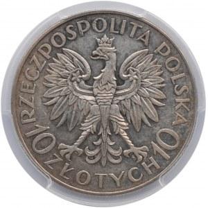 Polska, II RP, Jan III Sobieski, 10 złotych 1933, Warszawa, PCGS AU53