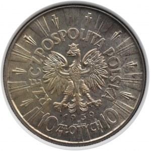 Polska, II RP, Józef Piłsudski, 10 złotych 1939, Warszawa, PCG MS67