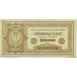 Polska, II RP, 50 000 marek 1922, seria B, piękne!