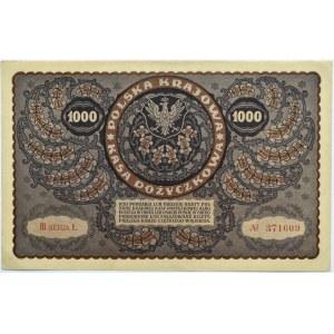 Polska, II RP, 1000 marek 1919, III seria Ł, typ 6