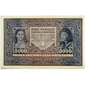 Polska, II RP, 5000 marek 1920, III serja H, UNC/UNC-, rzadkie