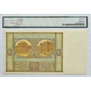 Polska, II RP, 50 złotych 1929, seria EP, Warszawa, PMG 64