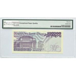 Polska, III RP, 100000 złotych 1993, seria AE, Warszawa, PMG 66 EPQ