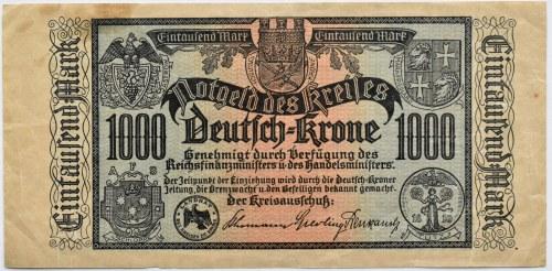Deutsch Krone, Wałcz, 1000 marek 1922, bardzo rzadkie