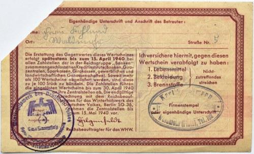 Niemcy, Pomoc zimowa dla narodu niemieckiego, 1 marka 1940