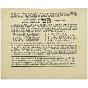 Niemcy, III Rzesza, los na loterię 1940, seria 4, rzadkie!
