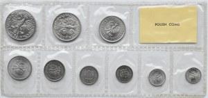 Polska, PRL, polskie monety aluminiowe, 1 grosz-5 złotych 1949-1974, Warszawa, UNC