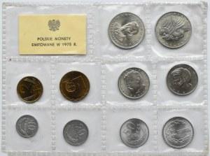 Polska, PRL, polskie monety, 10 groszy-20 złotych 1975, Warszawa, UNC