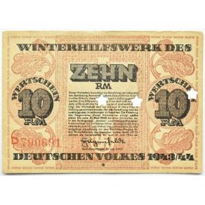 Niemcy, Pomoc zimowa dla narodu niemieckiego, 10 marek 1943/44, rzadkie!