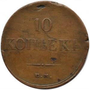 Rosja, Mikołaj I, 10 kopiejek 1834 E.M. F.H., Jekaterinburg