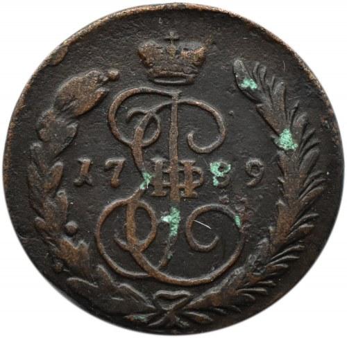 Rosja, Katarzyna II, 1 kopiejka 1789 EM, Jekateriburg