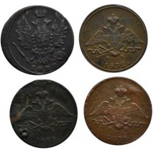 Rosja, Aleksander I / Mikołaj I, lot 1 kopiejki 1819-1832 E.M., Jekaterinburg