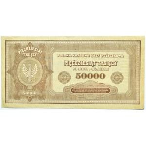 Polska, II RP, 50 000 marek 1922, seria B, Warszawa