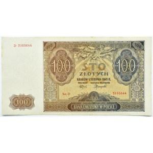 Polska, Generalna Gubernia, 100 złotych 1941, Kraków, seria D