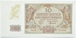 Polska, Generalna Gubernia, 10 złotych 1940, seria N, UNC