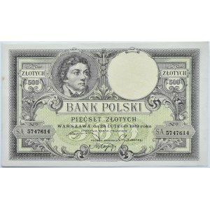 Polska, II RP, T. Kościuszko 500 złotych 1919, Warszawa