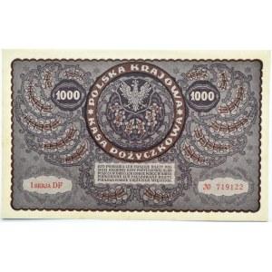 Polska, II RP, 1000 marek 1919, I serja DF - typ 7, UNC, PIĘKNE!