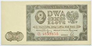 Polska, RP, 2 złote 1948, seria CL, Warszawa, UNC